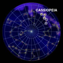 Dance cross the night sky with Cassiopeia the Queen