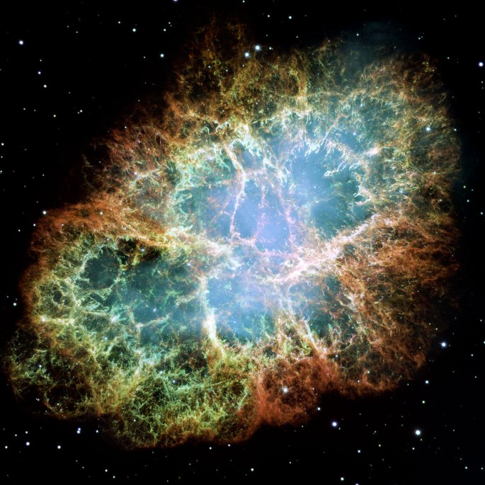 The Crab Nebula is the remains of a star that went supernova