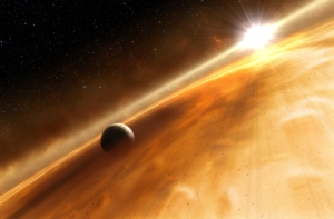 A planet has now been seen orbiting a distant star