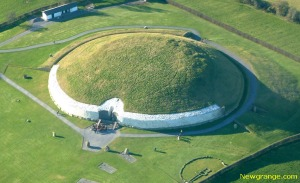 This aerial view of Newgrange gives you an idea of the astronomical knowledge and tomb building skills of the ancient astronomers who built these monument
