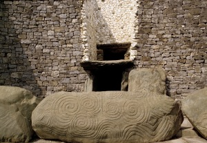 The entrance to Newgrange mound