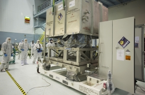 This is the Near Infrared Spectrograph for the James Webb Space Telescope, which will be used to try to find more planets