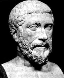 "Around the fifth century BC, Pythagoras announces, ""The world is a globe""."