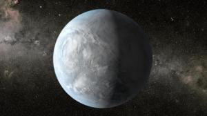 Kepler-62e is depicted in this artists conception