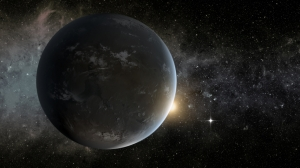 Kepler-62f looks dark and foreboding in this artists conception of the exo-planet