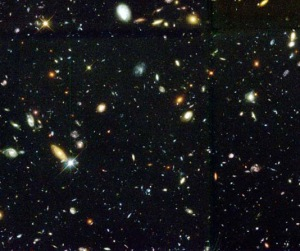 Astronomers also have a very rough estimate for the number of galaxies they see