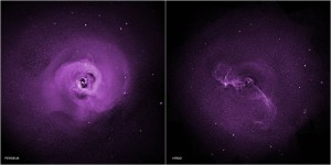 Chandra observations of the Perseus and Virgo galaxy clusters suggest turbulence may be preventing hot gas there from cooling, addressing a long-standing question of galaxy clusters do not form large numbers of stars. Image Credit: NASA/CXC/Stanford/I. Zhuravleva et al