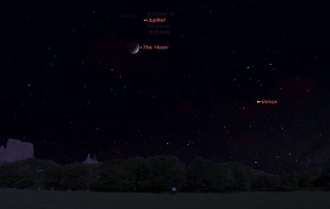 Jupiter and Venus having been steadily moving toward convergence since the beginning of the month.