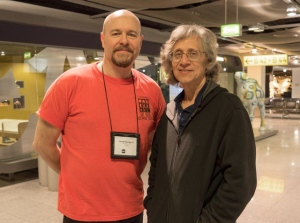 eclipseguy with Glenn Schneider from The Steward Observatory at the University of Arizona. Glenn is the Project Lead – he makes the calculations for our Totality Run: the aircraft's interception of the Moon's umbra. He's seen 32 Total Solar Eclipses