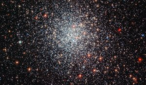 This new Hubble image of NGC 1783, taken with the Advanced Camera for Survey (ACS), shows the typical shape of young globular clusters viewed during the human journey to the beginning of space and time. Image credit NASA.