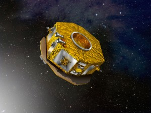 LISA Pathfinder is on station at the L1 LaGrange point and is preparing to do an important experiment. Credit: Pathfinder/ESA