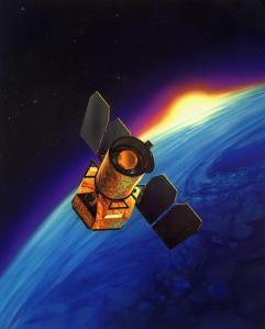 NASA's GALEX spacecraft scans the night sky. Credit: JPL/NASA