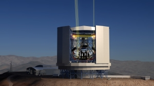 A side view of the Giant Magellan Telescope. Credit: GMTO Corporation