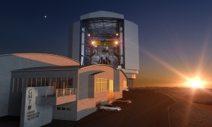 Sunset over the GMT, work begins. Credit: GMTO Corporation
