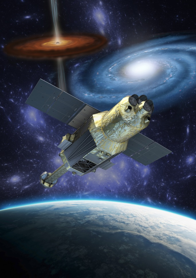 Artist concept of Hitomi Credits: Japan Aerospace Exploration Agency (JAXA). Credits: NASA/JAXA