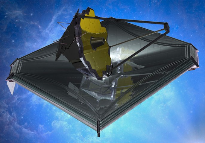 Projected to launch in 2018, JWST is an infrared telescope that will observe the early universe, between one million and a few billion years in age. Credit: NASA