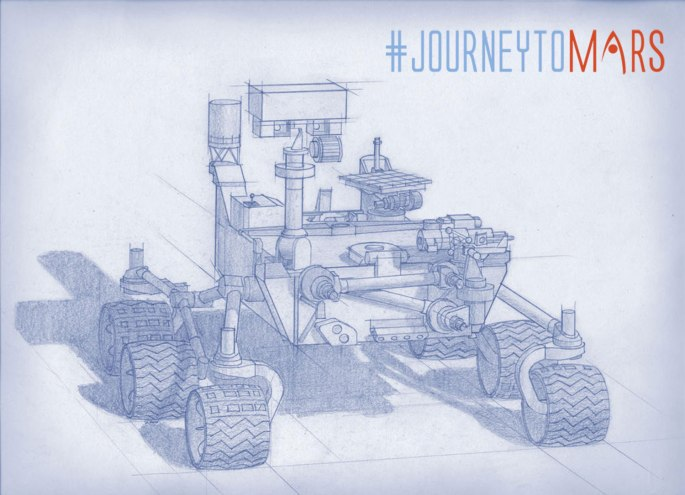 Planning for NASA's 2020 Mars rover envisions a basic structure that capitalizes on the design and engineering work done for the NASA rover Curiosity, which landed on Mars in 2012, but with new science instruments selected through competition for accomplishing different science objectives. Mars 2020 is a mission concept that NASA announced in late 2012 to re-use the basic engineering of Mars Science Laboratory to send a different rover to Mars, with new objectives and instruments, launching in 2020. NASA's Jet Propulsion Laboratory, a division of the California Institute of Technology, Pasadena, manages NASA's Mars Exploration Program for the NASA Science Mission Directorate, Washington. Credits: NASA/JPL-Caltech