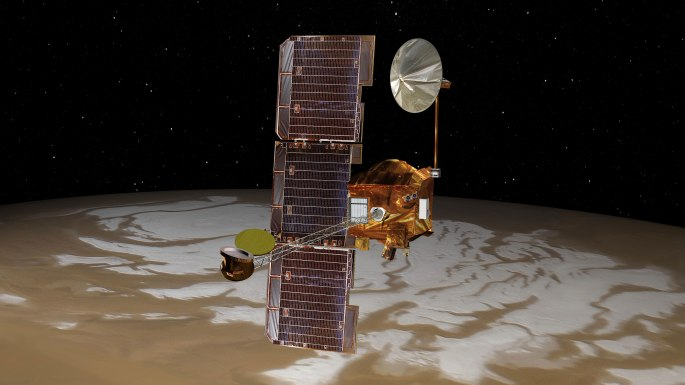 UPDATED Jan. 4, 2017, at 2 p.m. PST NASA's Mars Odyssey spacecraft has resumed full service following recovery after entering a safe standby mode on Dec. 26, 2016. The orbiter resumed communication relay assistance to Mars rovers on Dec. 30, 2016. Science observations of Mars by instruments on Odyssey resumed on Jan. 3, 2017, with its Thermal Emission Imaging System, and on the next day with its High Energy Neutral Spectrometer and the Neutron Spectrometer.