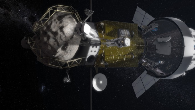 NASA's Asteroid Redirect Missions. Credits: NASA/Goddard