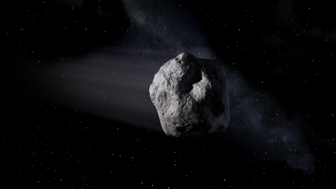 If this asteroid impacted on the Earth, it would be a dark, bad day for life on the planet. Image Credit: NASA